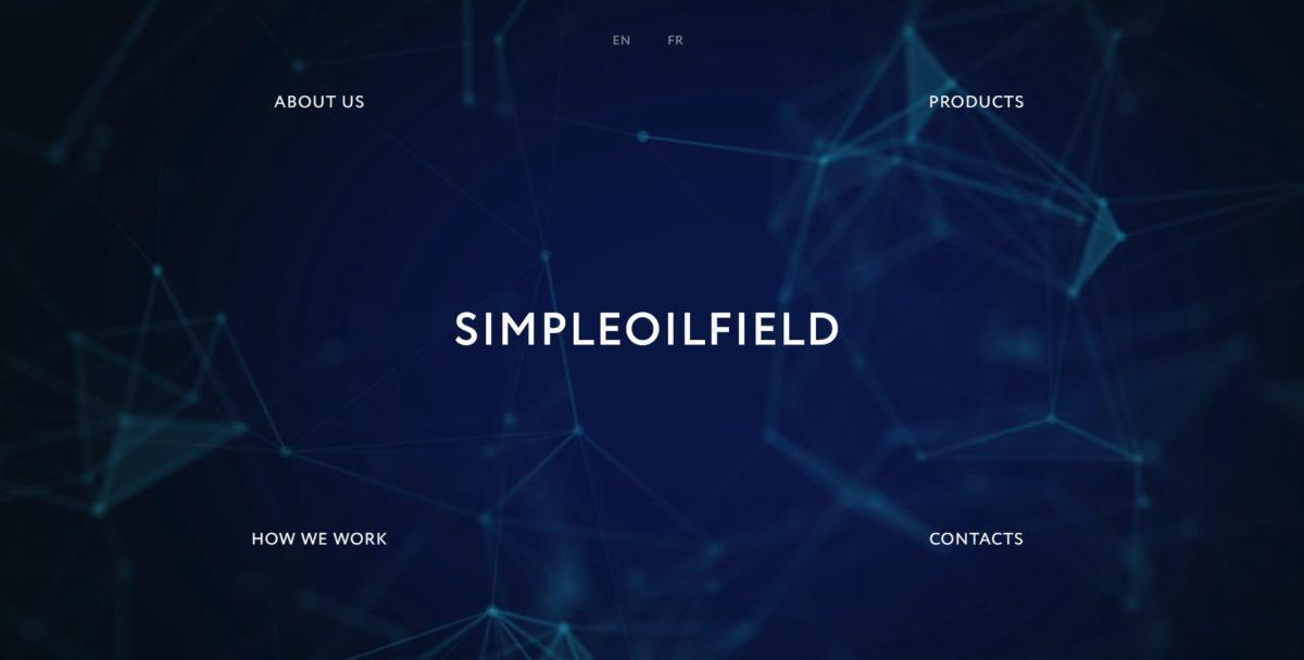 Сайт для французской компании SimpleOilField. Главная страница